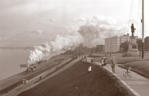 Sumner Matteson Lakefront with Steam Train