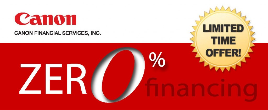 CFS 0% Financing on Canon Oce Printers Plotters
