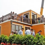 A Chinese company assembled this 3D-printed home in just three hours