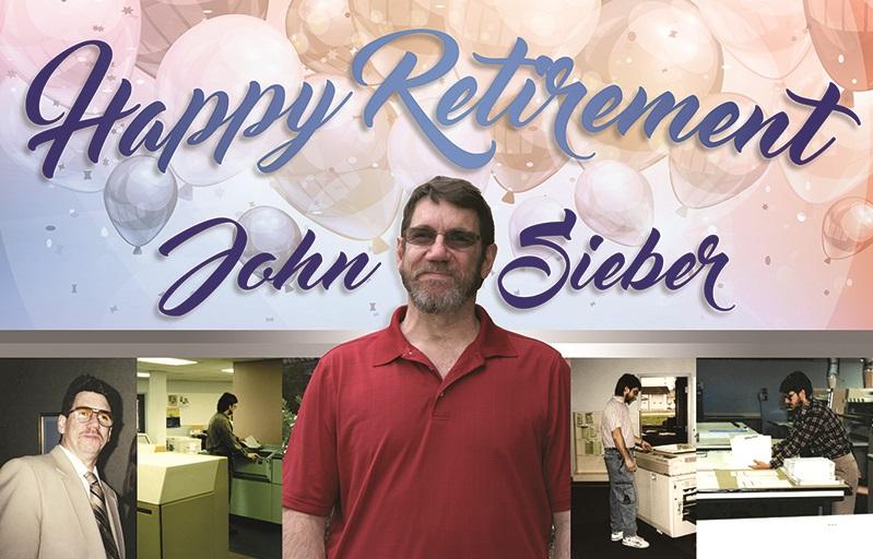 Happy Retirement John Sieber!