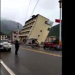 Video captures moment Tibet apartment topples into river