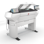 Oce ColorWave 3500 2 Roll Printer Only Receiving Rack Left Angle A/E Graphics Plotters