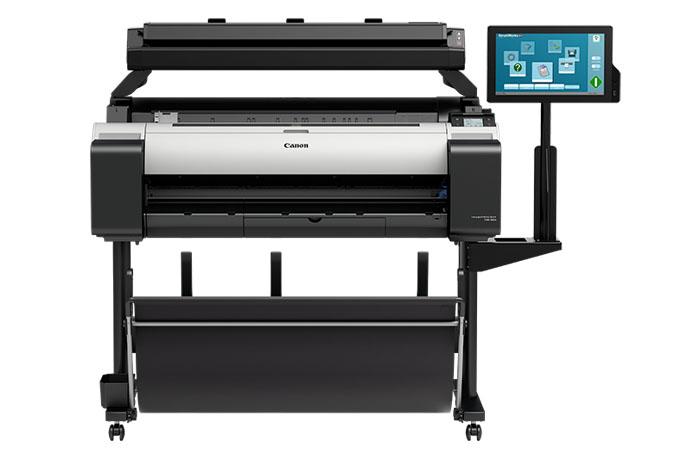 Canon imageprograf tm-300 mfp t36 plotter printer scanner front view