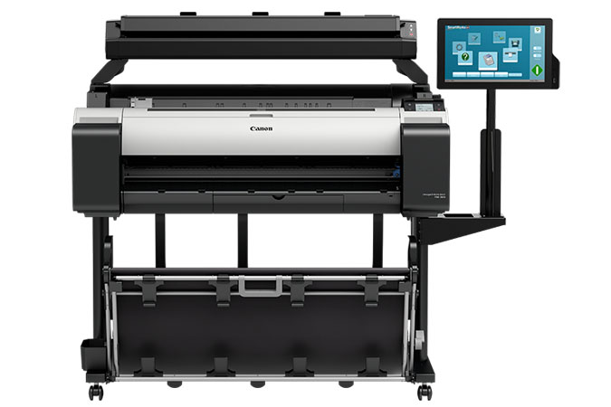 Canon imageprograf tm-305 mfp t36 plotter printer scanner front view