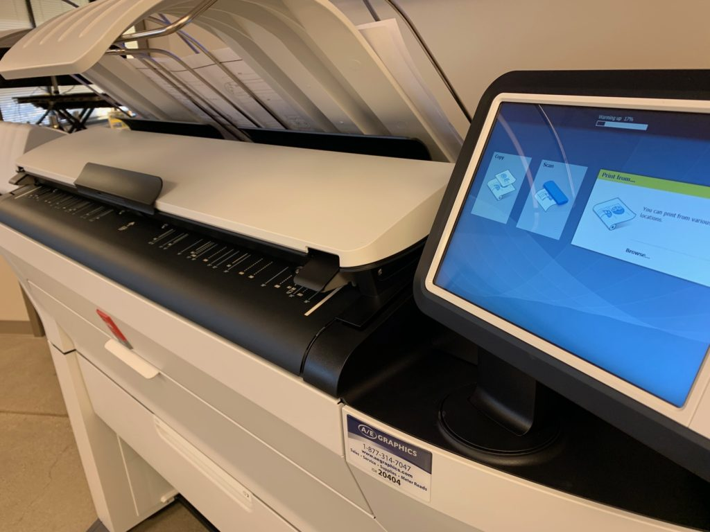 Oce ColorWave 3500 Plotter Right Display